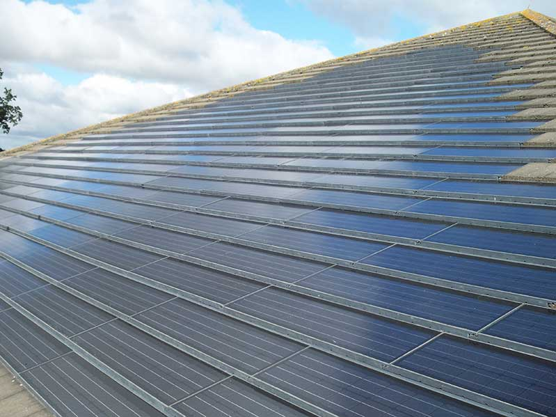 This Is More Expensive That Fitting Solar Panels But The Result Is Much  More In Keeping With An Existing Slate Tiled Roof.
