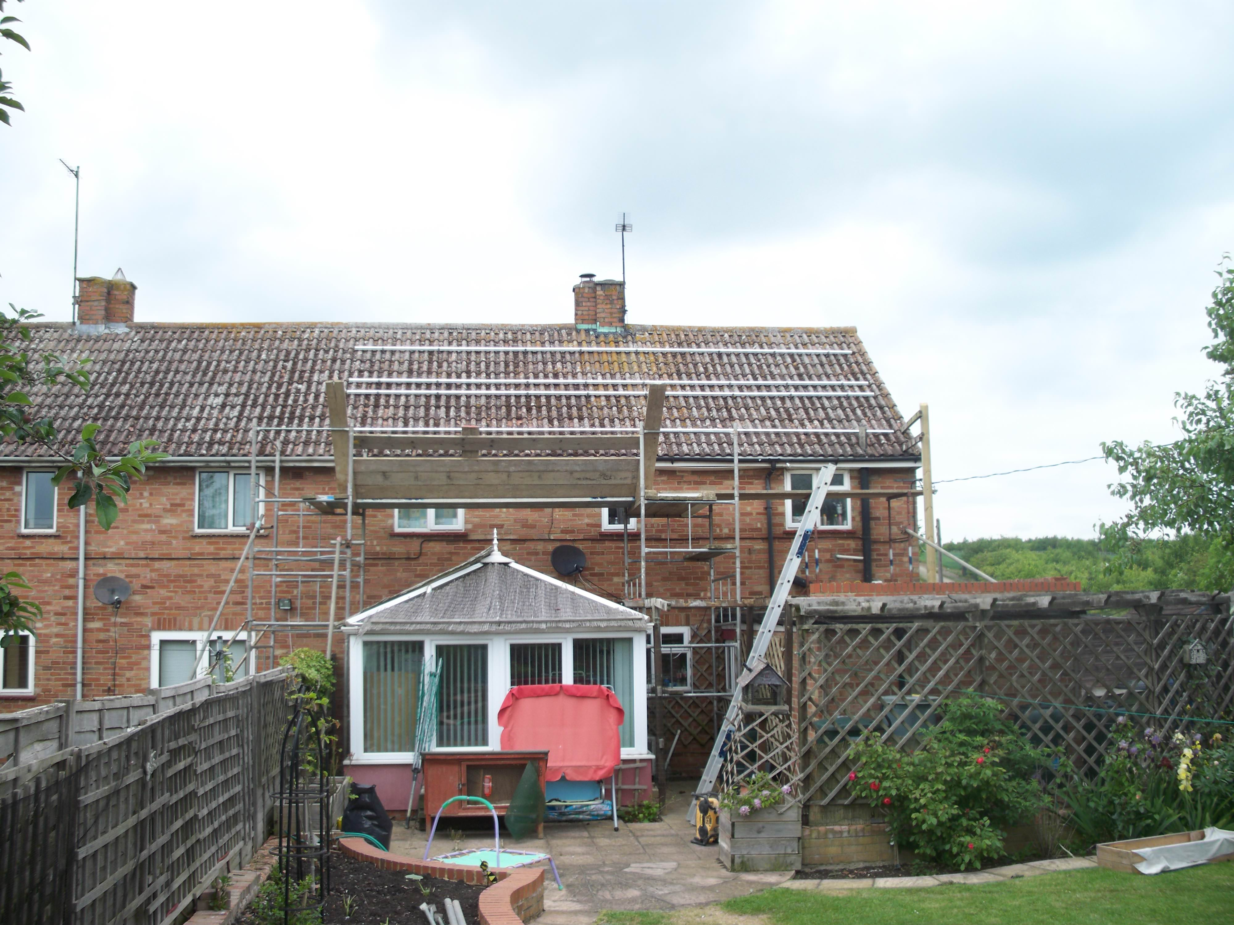 Huntingdon Solar Photovoltaics being installed onto domestic property