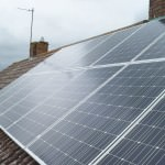 Solar Panels on roof of house in Huntingdonshire