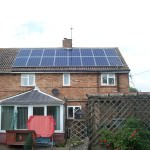 Solar PV Photovoltaics fitted to roof in Huntingdon
