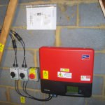 Solar PV inverter in Papworth Everard installation