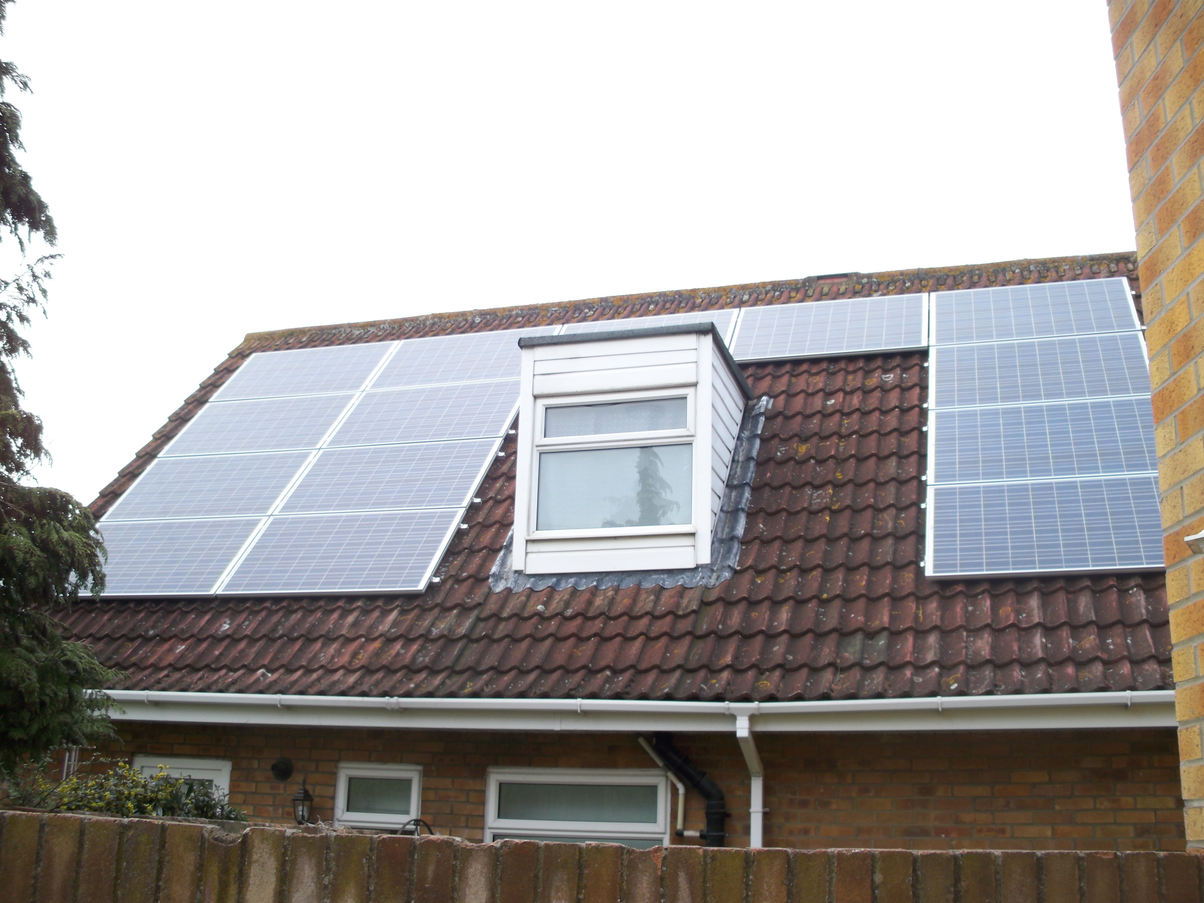 Solar Panels fitted to house in Alconbury