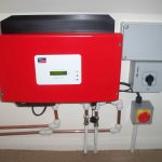 Inverter box from Solar Photovoltaic installation in Alconbury