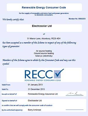 RECC 2013 certificate