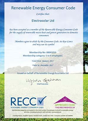 RECC Certificate 2017