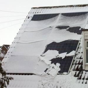 Snow on Solar PV
