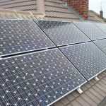 Solar panels on roof in Peterborough