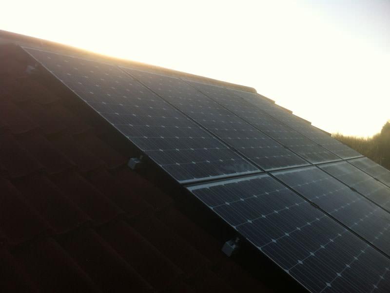 Solar PV installation in Alconbury