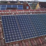 Solar PV installation in Alconbury - with another Electrasolar installation in the background