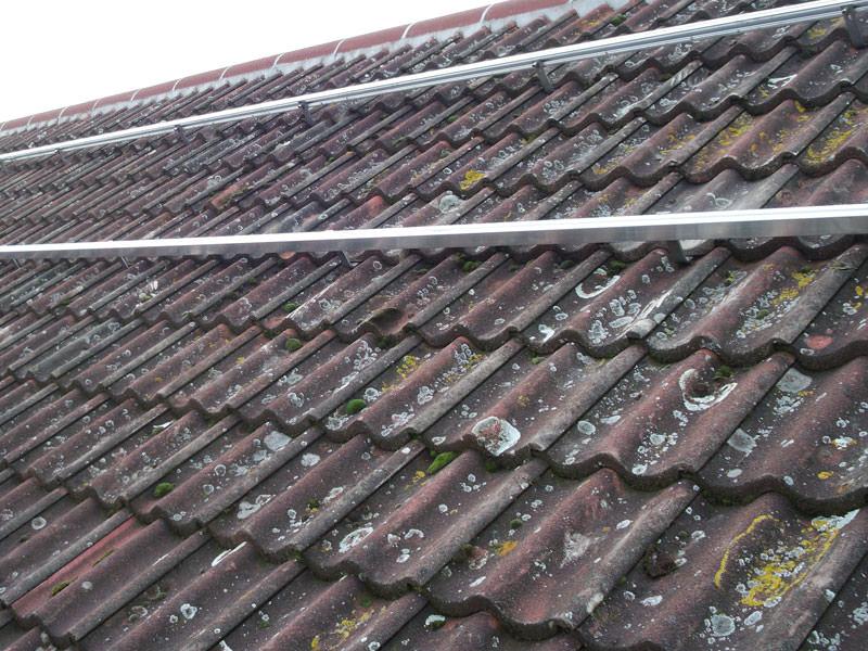 Solar PV installation in Alconbury - during installation