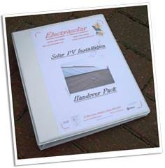 Solar PV installation handover pack