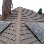 Split solar panels on roof in Peterborough